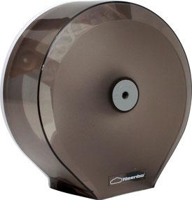Despachadores de Papel Higiénico Humo Kleenbo Maxi PR42310.  Color: Transparente Dimensiones en milímetros: Alto: 355 Largo: 350 Ancho: 140 Contenido por caja: 1 pieza