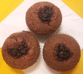 Dunkle Schoko mit Mohn Muffins