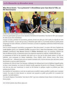 Magazine Jazz Rhône Alpes du 14 / 12 / 2015