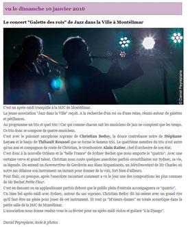 Magazine Jazz Rhône Alpes du 11 janvier 2016