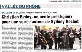 Le Dauphiné du 13 janvier 2016