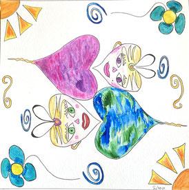 lescerclesdelumiere, peinture intuitive