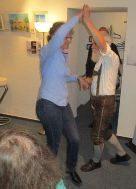 Ein Tänzchen zum Abschluss des Abends