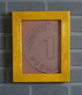 Spielgeld-Pfennig-Gemälde-Bild-Kunstwerk-Skulptur von künstlerstein.de Mathias Rüffert