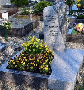 Urnengrab zweifarbig Granit Felsen Gletscher