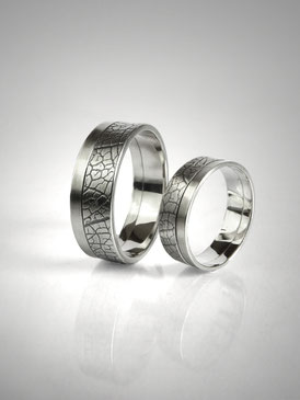 Plant print wedding rings, nature - Nelly Chemin