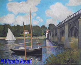 Bridge at Argenteuil,  C.Monet, oil on canvas, cm 40x50,  2013