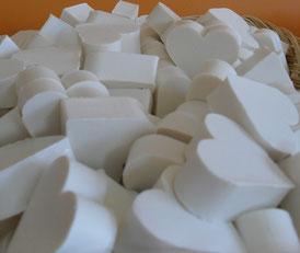 cuore bianco al profumo di cocco