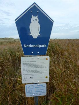 Bild: Schild Nationalpark Wattenmeer
