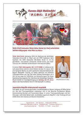 Shinji Akita-Sensei, Kangeiko Limburg, Karate Erlach