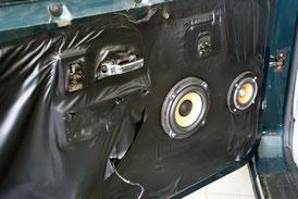 13 cm 3-Wege-System von Focal in den Türen vom bentley