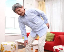 腰痛の高齢者の画像