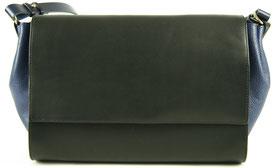 sac main en cuir noir et bleu, Cirrus Saule Paris, Label Fabriqué à Paris