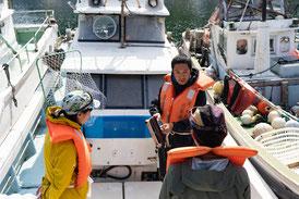 安全レクチャーと釣り講習