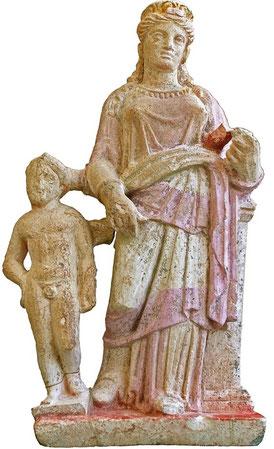 Aphrodite et son fils Eros