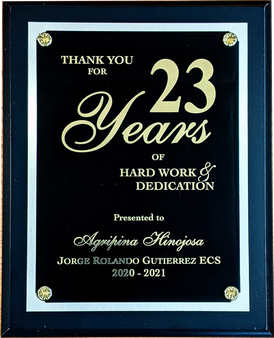 Years of Service Award Plaque - Matte Black