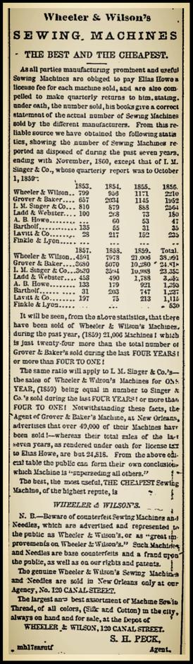 1860 Advertisement