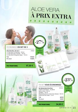 LR Health and Beauty Systems et Aloe vera Santé.    Une économie de -20 % à -45 % ou plus sur les produits à l'Aloe Vera.