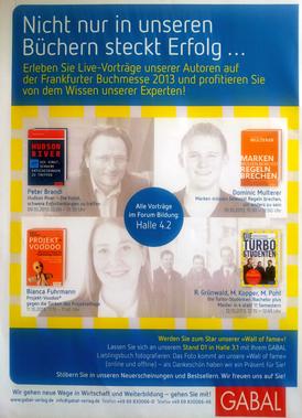 GABAL-Vortragsredner auf der Frankfurter Buchmesse 2013