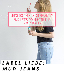Visual Statement des Labels MUD Jeans: Let`s do things differently. And let´s do it with fun.