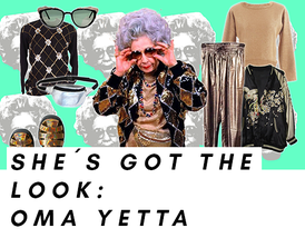 Look von Oma Yetta, Die Nanny