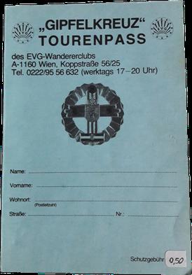 Tourenpass EVG-Gipfelkreuz