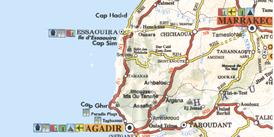 Strassenkarte Marrakesch Essaouira Agadir