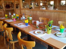 Tisch für Kindergeburtstag