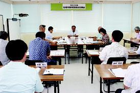 第2回石垣市教育委員会定例会が行われた=25日、石垣市教育委員会事務所