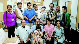 離島僻地医療について学んだボリビアなど中南米3カ国からの研修生=竹富診療所