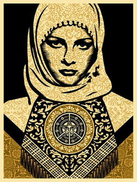 Shepard Fairey Arab Woman Gold