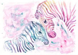 Aquarell, Zebra, watercolour, Illustration, Sternenkind