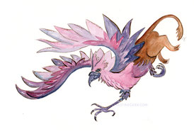 Greif, Illustration, Aquarell, Fabelwesen, Griffin