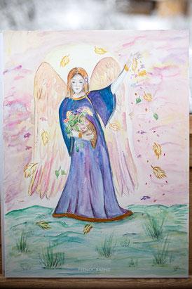 Schutzengel, Sandalphon, Gärtner Gottes, Aquarell
