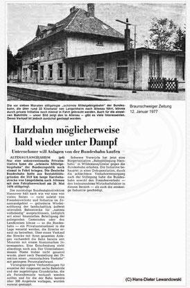 1977 - Harzbahn möglicherweise bald wieder unter Dampf?