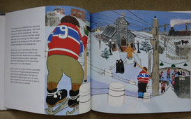 Illustration aus Roch Carriers Kurzgeschichte The Hockey Sweater (Le chandail de hockey).