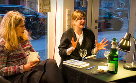 """Buchpremiere des Kinderbuches """"Der Kaugummigraf"""" mit Kirsten Reinhardt und Sybille Hein in der Buchhandlung Montag, Berlin"""