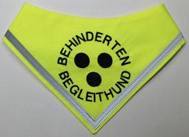 Blinden Logo, blinder Hund, Halstuch für blinden Hund,neongelb, reflektor