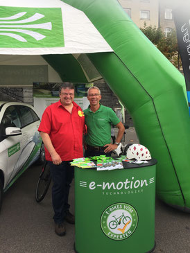 Messestand auf der eCross Germany in Düsseldorf mit den e-motion e-Bike Experten Düsseldorf