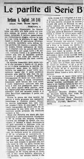 1933-34 DERTHONA - CAGLIARI 3-0