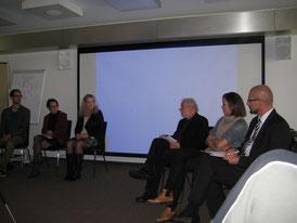 v.l.n.r.: Claas Röhl, Dr. Degn, Ingeborg Beunders, Günther Wanke, Dr. Vonbank, Thomas Ivancich