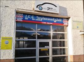 Bild: Eingang LCG-System-Werkstatt