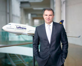 Lufthansa's CEO Carsten Spohr wants his Group to set industrial standards in all business segments  /  source: LH