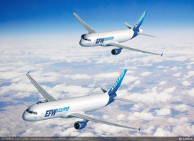 Animated P2C converted A321 and A320 aircraft  /  courtesy Airbus