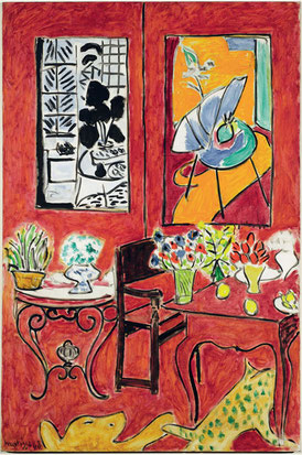 Herni Matisse, Grande interno rosso, 1948. Collection Centre Pompidou. © Centre Pompidou, MNAMCCI/Philippe Migeat/Dist. RMN-GP © Succession H. Matisse by SIAE 2015