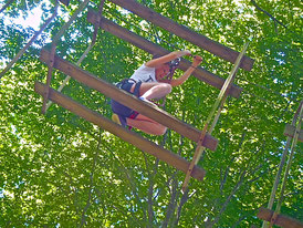 L'accrobranche proche de Bourg-en-Bresse, Parc aventure dans l'Ain pour les étudiants, collèges, lycées, face, grande écoles