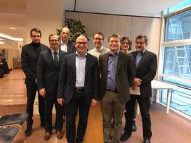 v.l.: Dr. Götz Gerresheim, Dr. Andreas Merkel, Dr. Michael Janka, Prof. Dr. Alexander Schuh, Frank Janssen, Prof. Dr. René Handschu, Johanna Neppert, Dr. Wolfgang Hönle