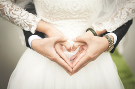 Romantik bei der Hochzeit