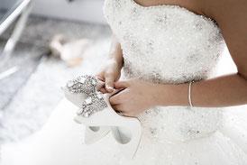 Brautschuhe mit Strass