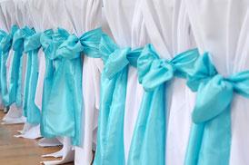 Hochzeitsfarbe Tiffany